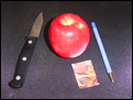 How to make an apple pipe.