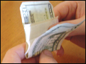 Wow to roll a joint with a dollar bill.